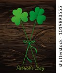 petals of clover with the image ...   Shutterstock .eps vector #1019893555