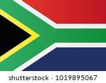 south africa national flag....   Shutterstock .eps vector #1019895067