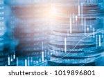 stock market or forex trading... | Shutterstock . vector #1019896801