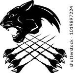 black panther insignia | Shutterstock .eps vector #1019897224