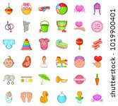 mommy icons set. cartoon set of ... | Shutterstock .eps vector #1019900401