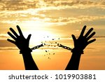Small photo of Human shadow image of human hand chain is absent. Get free