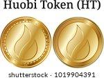 set of physical golden coin...   Shutterstock .eps vector #1019904391