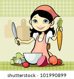 vector illustration of a girl... | Shutterstock .eps vector #101990899