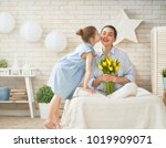 happy mother's day  child... | Shutterstock . vector #1019909071