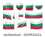 set bulgaria flags  banners ... | Shutterstock .eps vector #1019916121