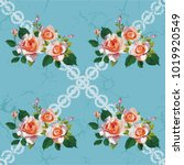 seamless floral pattern with... | Shutterstock .eps vector #1019920549
