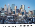 calgary downtown skyline at... | Shutterstock . vector #1019922025