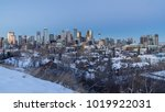 calgary downtown skyline at... | Shutterstock . vector #1019922031