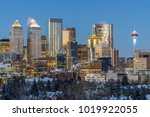 calgary downtown skyline at... | Shutterstock . vector #1019922055