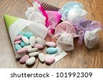 different colored candy favor | Shutterstock . vector #101992309
