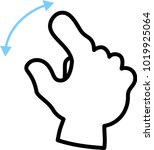 pinch out this is a vector... | Shutterstock .eps vector #1019925064