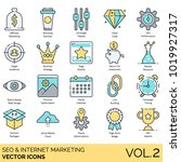 seo   internet marketing icons  ... | Shutterstock .eps vector #1019927317