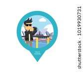 guy in australia pin map | Shutterstock .eps vector #1019930731