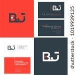 b j  b   j letters joint logo... | Shutterstock .eps vector #1019939125