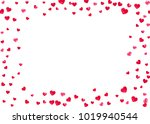 valentines day card with red... | Shutterstock .eps vector #1019940544