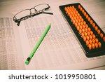 mental arithmetic background | Shutterstock . vector #1019950801
