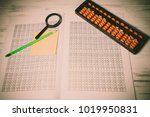 mental arithmetic background | Shutterstock . vector #1019950831