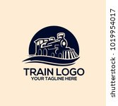 train logo vector | Shutterstock .eps vector #1019954017