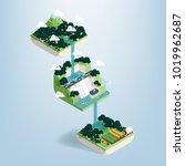 graphic design vector of water... | Shutterstock .eps vector #1019962687