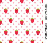 seamless pattern with... | Shutterstock .eps vector #1019965381