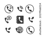 set of phone flat icon vector | Shutterstock .eps vector #1019966014