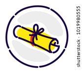 scroll  manuscript  exclusive...   Shutterstock .eps vector #1019980555