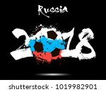 abstract number 2018 and soccer ... | Shutterstock .eps vector #1019982901
