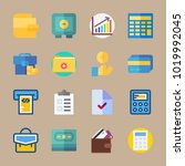icons banking with dollar ... | Shutterstock .eps vector #1019992045