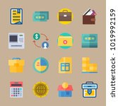 icons banking with mortgage ... | Shutterstock .eps vector #1019992159