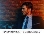 respectable handsome man in... | Shutterstock . vector #1020003517