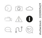 web linear icon set. simple...