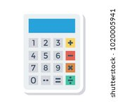 calculator accounting device  | Shutterstock .eps vector #1020005941