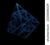 3d rendered geometric with... | Shutterstock . vector #1020008329