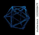 3d rendered geometric with... | Shutterstock . vector #1020008479