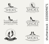 vector vintage logo design for... | Shutterstock .eps vector #1020009871