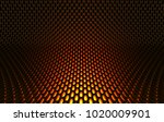 metal mesh grild. abstract 3d... | Shutterstock . vector #1020009901