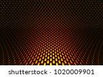 metal mesh grild. abstract 3d... | Shutterstock . vector #1020009901