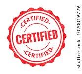 certified grunge retro red... | Shutterstock .eps vector #1020019729