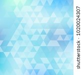 abstract triangle pattern on... | Shutterstock .eps vector #1020024307