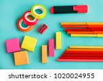 portrait of colorful office...   Shutterstock . vector #1020024955