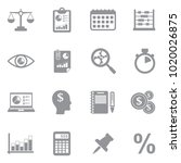 accounting icons. gray flat... | Shutterstock .eps vector #1020026875