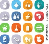 flat vector icon set   cleanser ... | Shutterstock .eps vector #1020027661