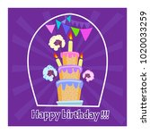 greeting card. celebration a... | Shutterstock .eps vector #1020033259