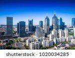 a bird's eye view of suzhou at...   Shutterstock . vector #1020034285