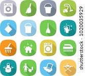 flat vector icon set   washing... | Shutterstock .eps vector #1020035929