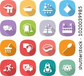 flat vector icon set   factory... | Shutterstock .eps vector #1020039985