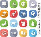 flat vector icon set   message... | Shutterstock .eps vector #1020040021