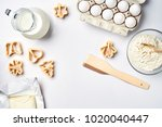 objects and ingredients for... | Shutterstock . vector #1020040447