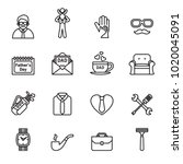 father day icon set with white... | Shutterstock .eps vector #1020045091